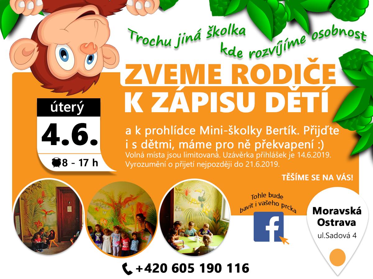 Zápis do školky Moravská Ostrava